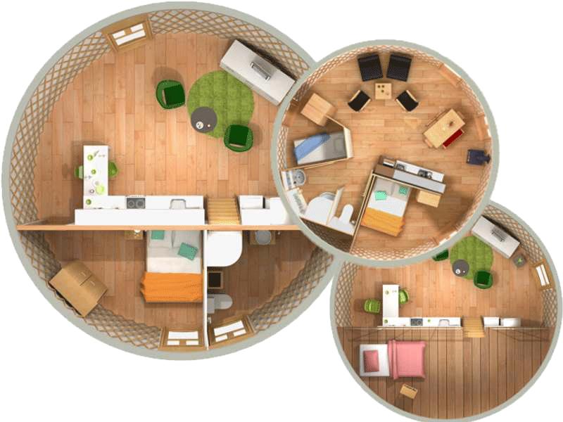 Yurta moderna casa